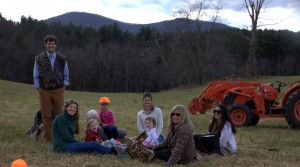 So fun having a picnic in the pasture with Bullhead Mountain in the background