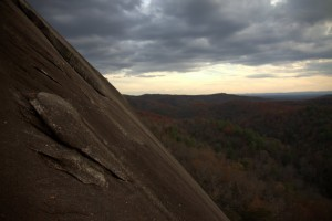 Beautiful...climbing in the southeast on granite is pretty good