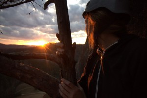 Kristine taking in the beautiful sunset