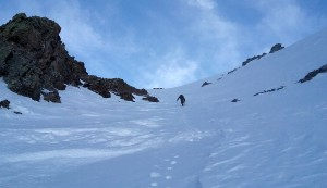 Me in the upper couloir. Photo by Natalie
