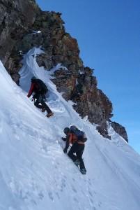 J and I on the steep part to the JP Sneak. Photo by Natalie