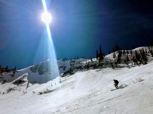 Kristine skiing