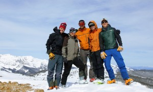 Gold Hill summit (12,361'). Left to Right: Me, Jesse, Matt, J, & Chuck