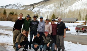 Our crew one year older and wiser, but just as giddy to all be together on another Hardman in the mountains