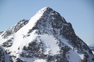 The Spider's skiable northeast face. Wow