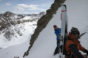 The point where we packed up our skis and booted out to the exit Ben spotted