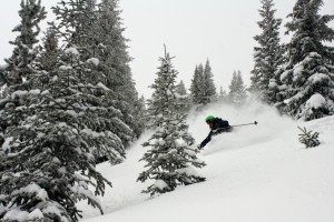 Early morning powder harvested by Mr. Gratz. Photo by Derek