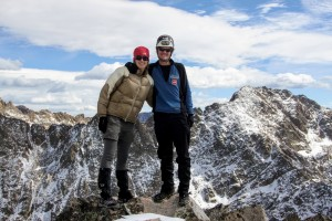 Kristine & I on the summit of The Fly in October 2011