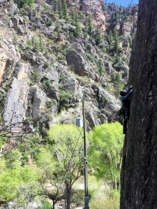 J climbing Poison Ivy (5.9)