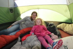 Sawyer & Kristine in our big tent