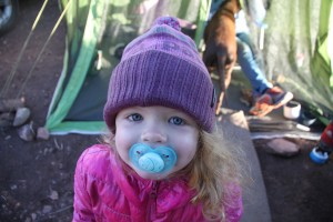 I think this little gal likes camping in the high desert