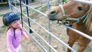 Sawyer loves her neigh-neighs