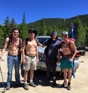 Our crew back at the trailhead