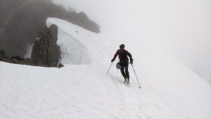 Me passing the notch on the ridge to my left