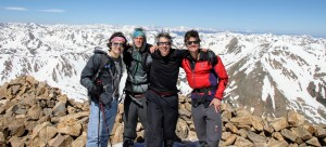 All four of us on the summit of Mt. Elbert (14,433')