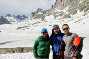 Ryan, Billy, & J at our 10,500' high camp in Titcomb Basin