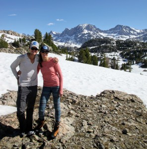 Kristine & I with Fremont Peak behind