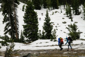 Reascending terrain back up to Barbara Lake