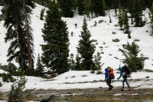 Reascending terrain back up to Barbara Lake